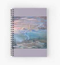 Red Sky in Morning by J.L.Anichowski Spiral Notebook