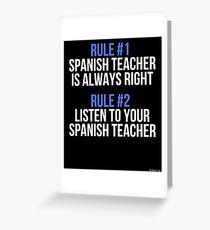 Spanish teacher greeting cards redbubble spanish teacher rules gift for spanish teacher gift for spanish teacher t shirt sweater hoodie m4hsunfo