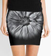Backyard Flowers In Black And White 10 Flow Version Mini Skirt