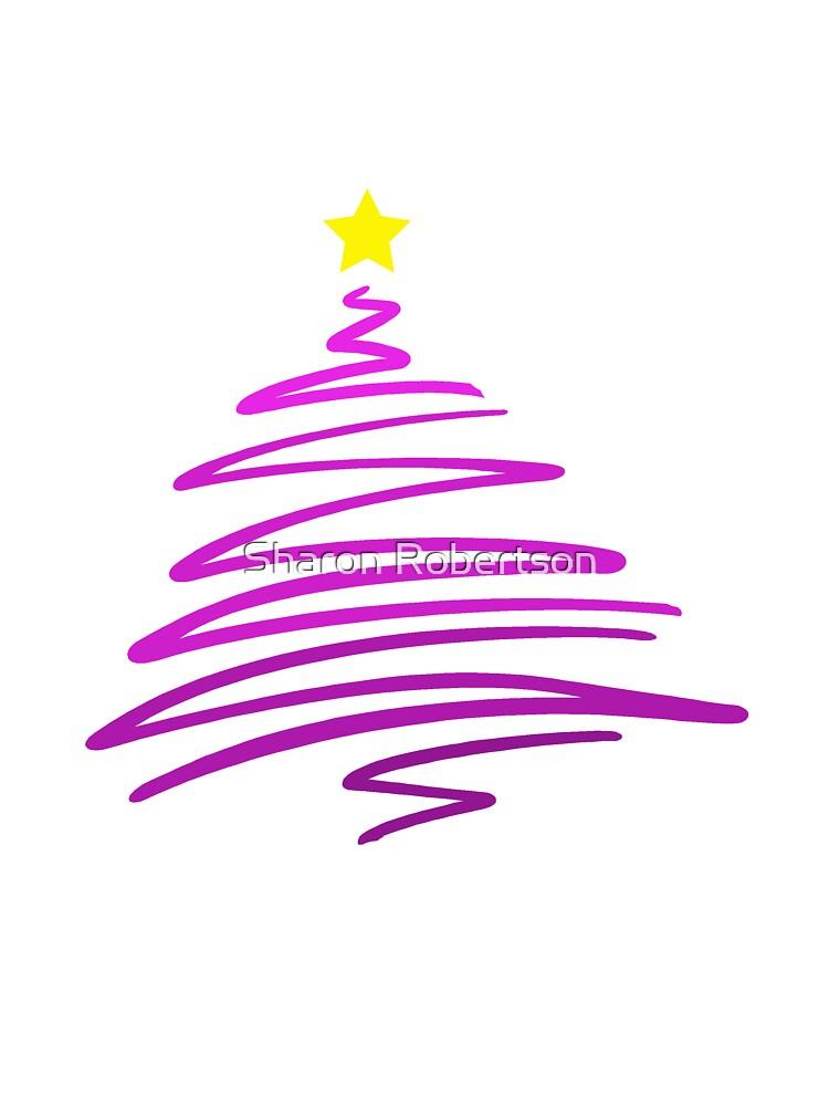 Scribble Christmas Tree by Sharon Robertson