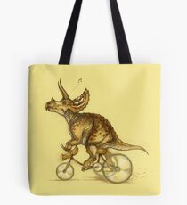 Tricycling Triceratops. Tote Bag