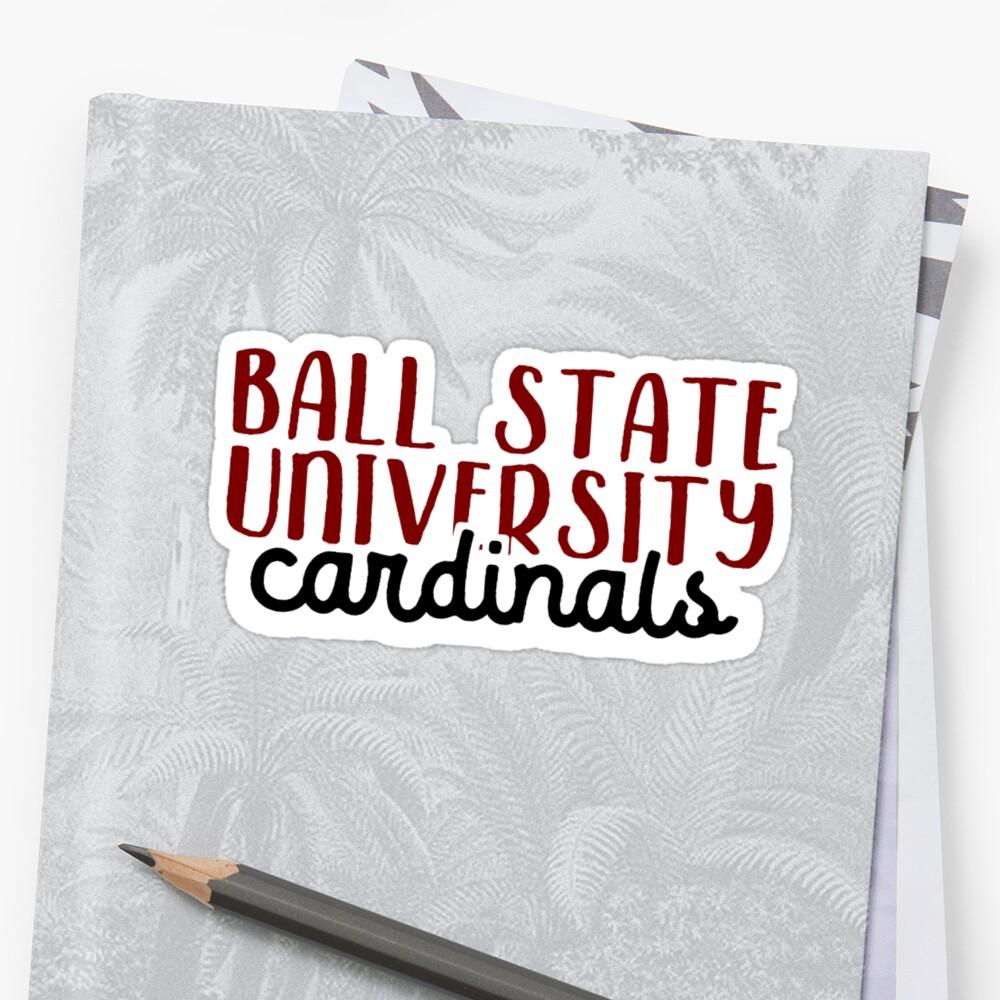 Ball State University Sticker Front