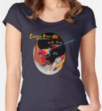 Captain Zippy and his Raygun Women's Fitted Scoop T-Shirt