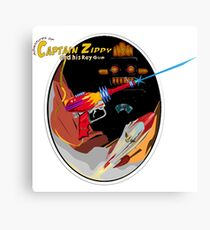 Captain Zippy and his Raygun Canvas Print