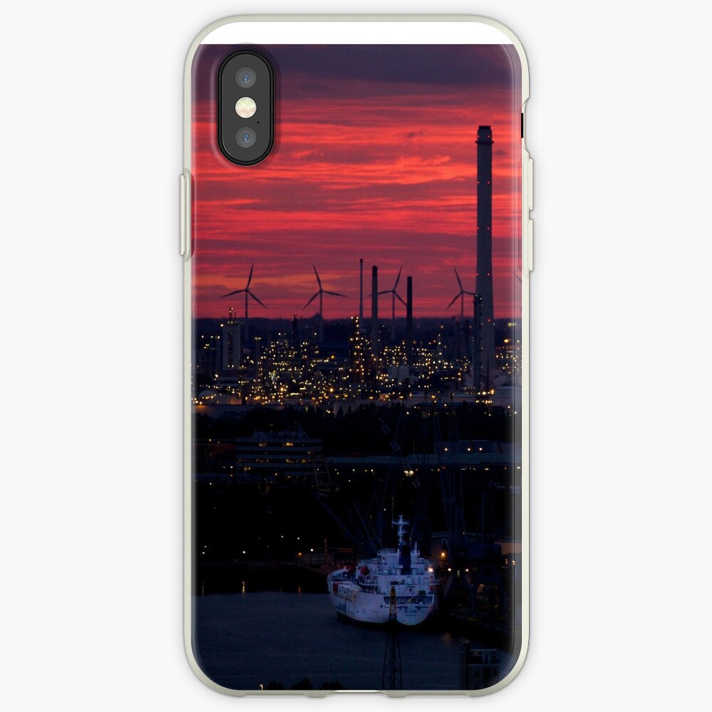 Rotterdam Harbour Skyline at Sunset, from Euromast iPhone Cases & Covers