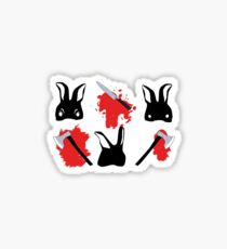 Bloody bunnies Sticker
