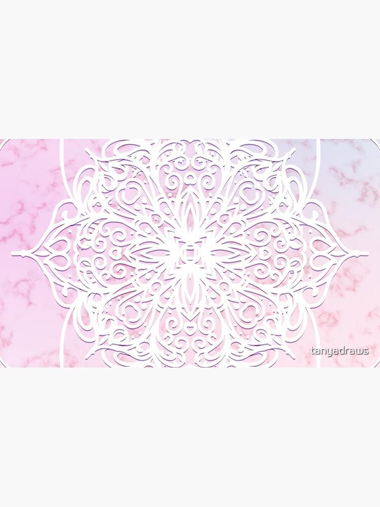 Candyfloss Mandala by tanyadraws