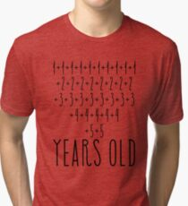 Awesome Simple Math 80th Birthday Shirts For Men and Women Tri-blend T-Shirt