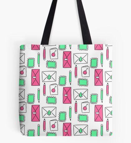 Christmas Snail Mail Tote Bag