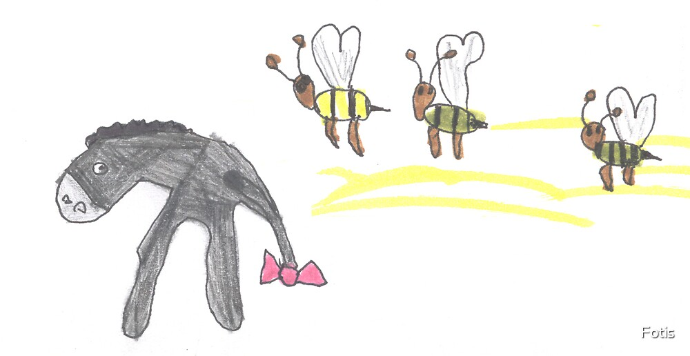 Eeyore And The Bees by Fotis