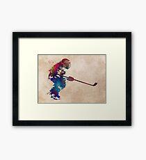 hockey player 2 #hockey #sport Framed Print