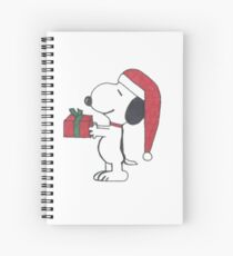 Christmas Snoopy Spiral Notebook