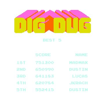 Dig Dug Score Leader by JJFGraphics