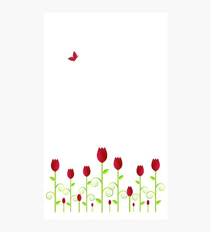 Red Butterfly Photographic Print