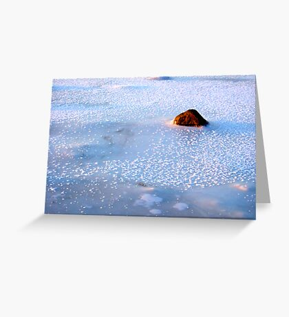 A freezing stone Greeting Card