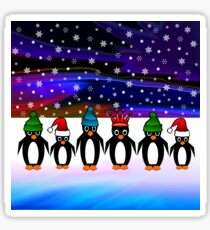 Penguins office Christmas Party Sticker