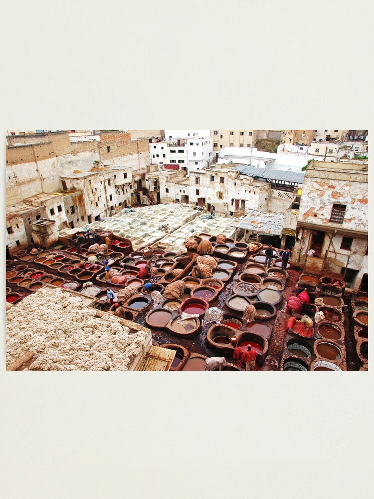 Alternate view of A tannery in Fes Photographic Print