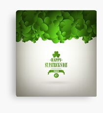 Saint Patrick's Day Background Canvas Print