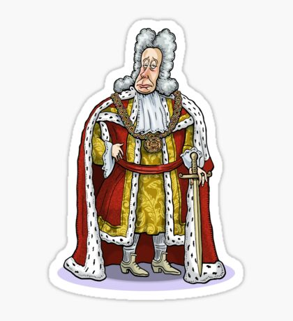 King George I Sticker