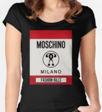 Moschino milano Women's Fitted Scoop T-Shirt