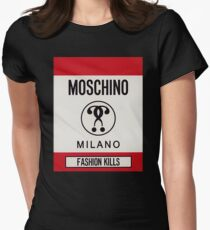Moschino milano Women's Fitted T-Shirt