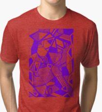 As Worlds Collide (Royal Purple) #Geometric #New #Polygon #Triangle #Lines #Sketch #Black #White Tri-blend T-Shirt