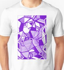 As Worlds Collide (Royal Purple) #Geometric #New #Polygon #Triangle #Lines #Sketch #Black #White T-Shirt