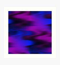 Keep It Wavy (purple, blue, black) Art Print