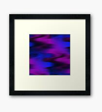 Keep It Wavy (purple, blue, black) Framed Print