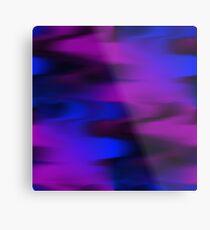 Keep It Wavy (purple, blue, black) Metal Print