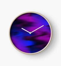 Keep It Wavy (purple, blue, black) Clock