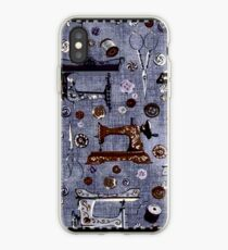 Vintage Sewing Machines Seamstress Pattern iPhone Case