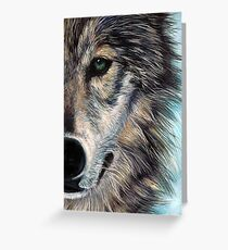 Blue Wolf Greeting Card