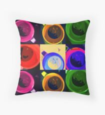 Six cups of moods Throw Pillow