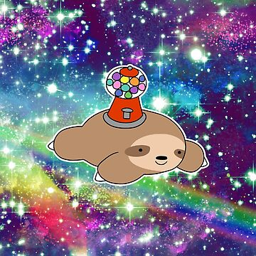 Gumball Machine Sloth Rainbow Space de SaradaBoru