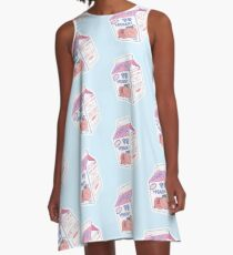 Peach Milk Carton A-Line Dress