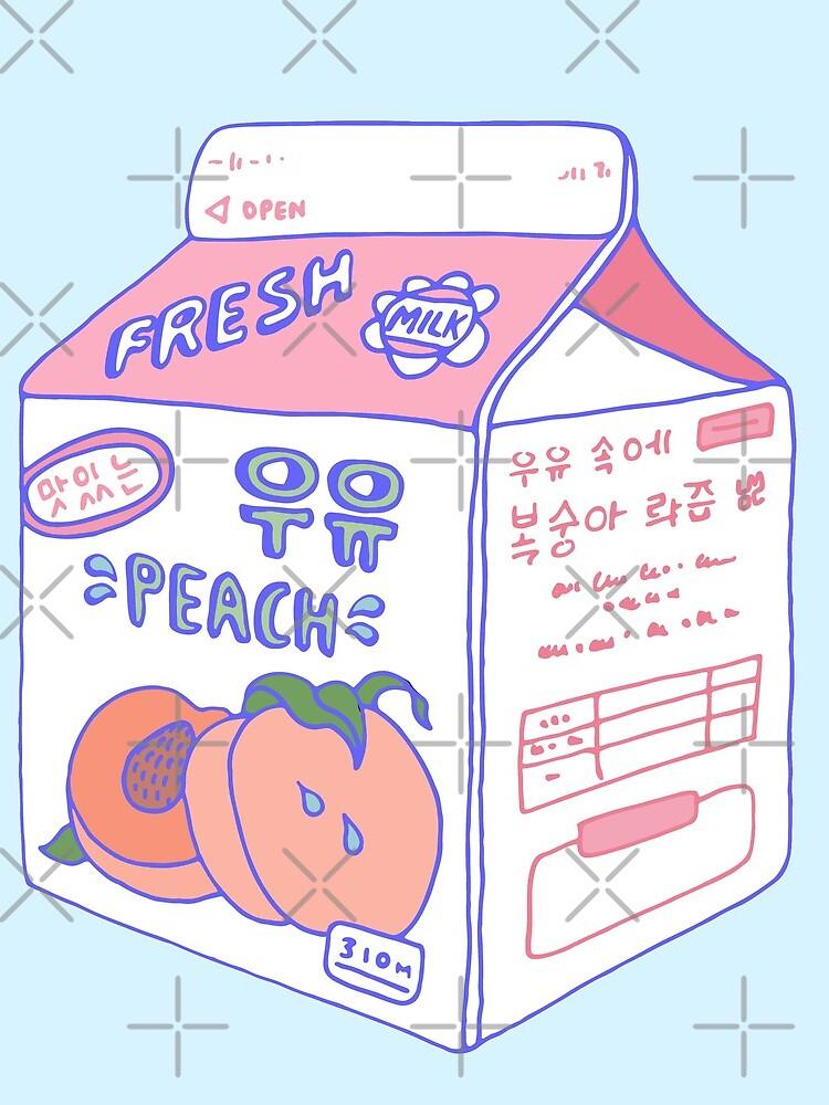 Cartón de leche de durazno de LauraOConnor