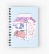 Peach Milk Carton Spiral Notebook