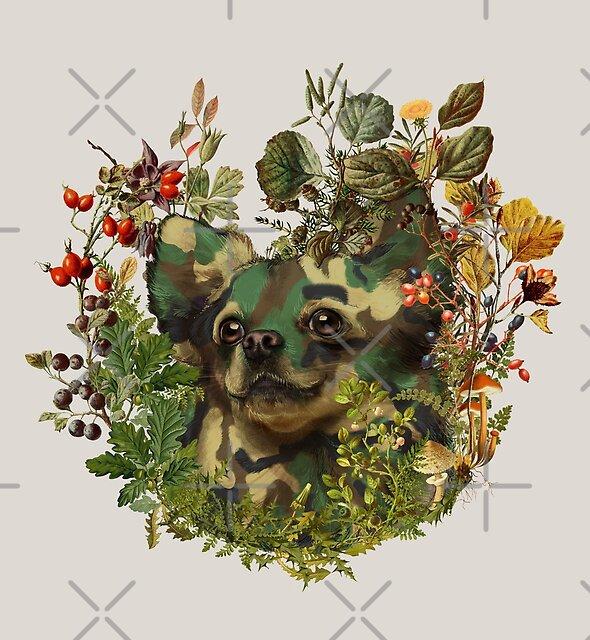 « Camo Chihuahua aventure de la forêt » par 38Sunsets