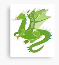 Adorable Green Dragon Canvas Print