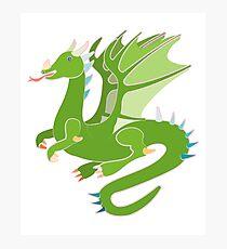 Adorable Green Dragon Photographic Print