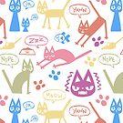 Derp Cat Speaks - Multicolored by ChelseaPray