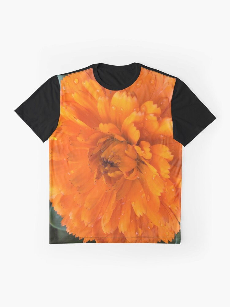 Alternate view of Marigold with Raindrops Graphic T-Shirt