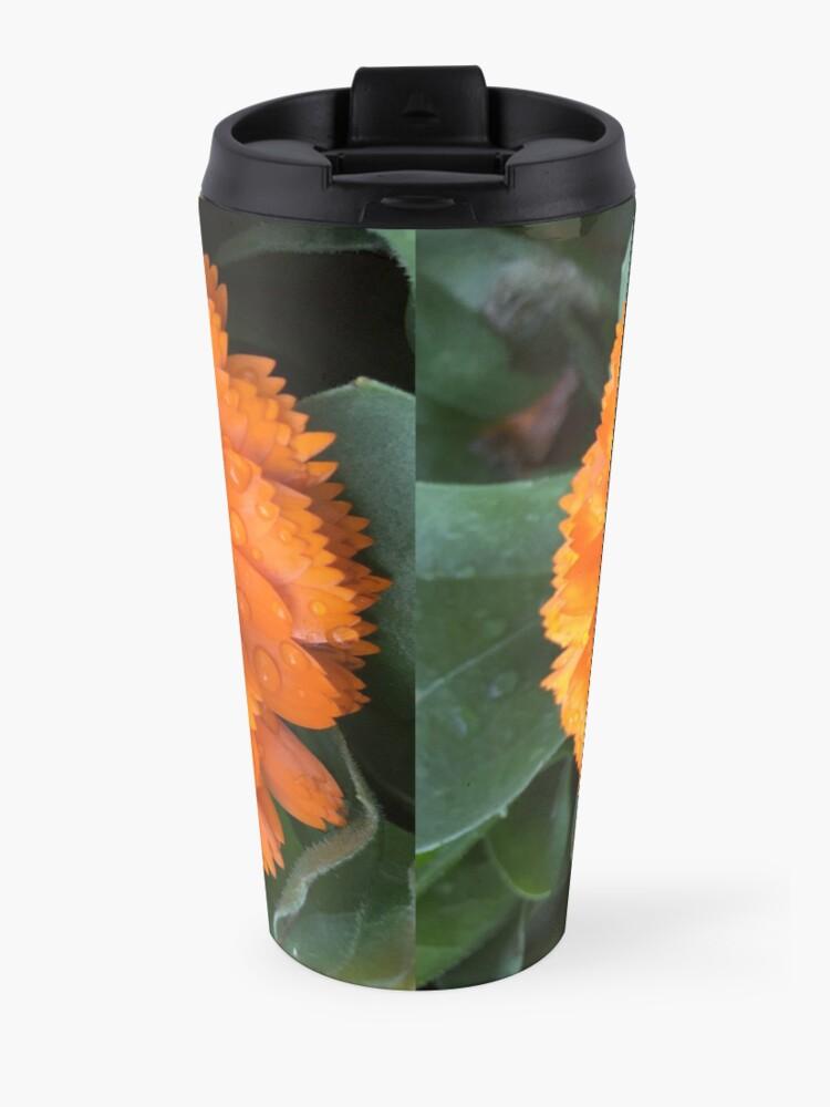 Alternate view of Marigold with Raindrops Travel Mug