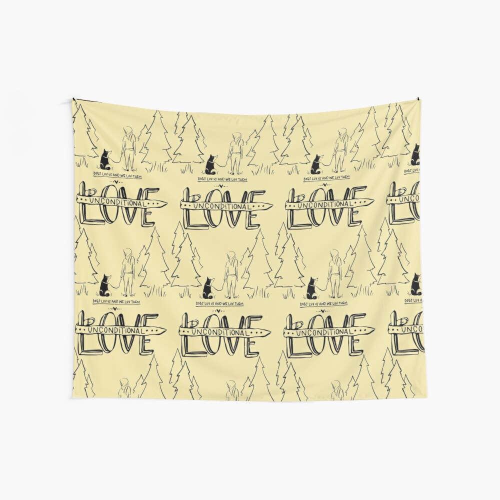 Dog Lovers With Style Wall Tapestry