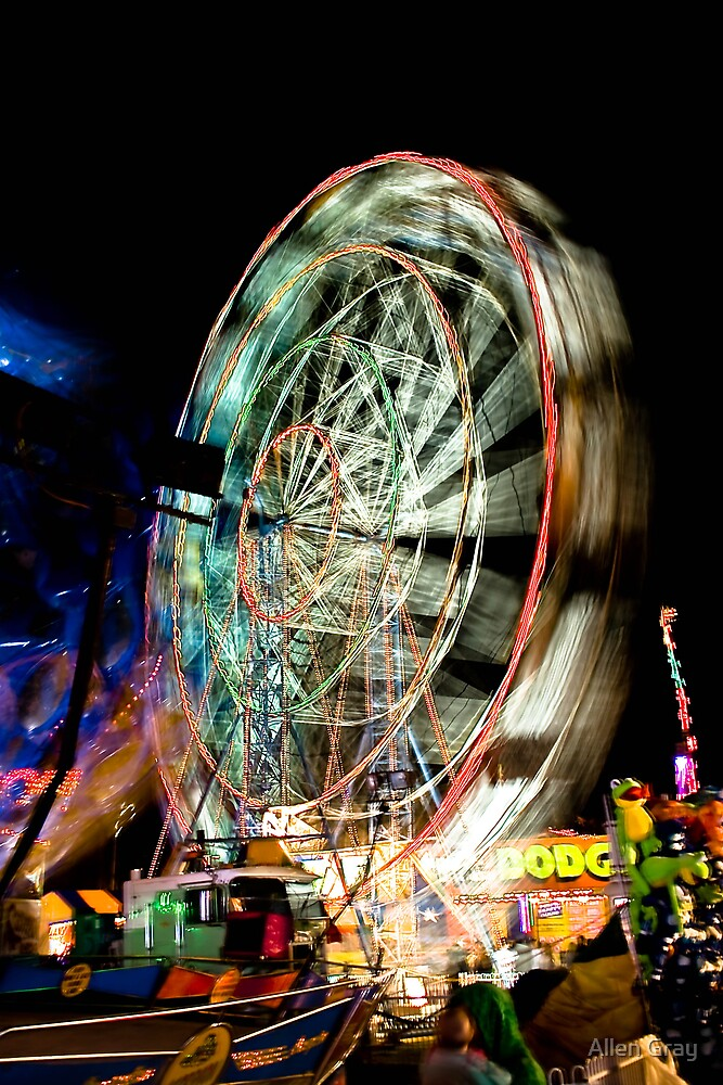 Ferris Wheel at Night by Allen Gray