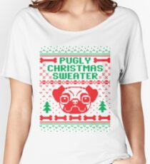Pugly Christmas Sweater Women's Relaxed Fit T-Shirt