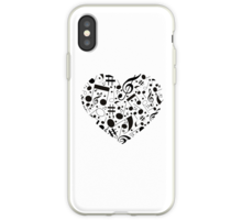 music on iphone quot black and white notes hearts quot by havendesign 2751