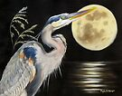 Moon Over Mississippi A Great Blue Herons Perspective by Phyllis Beiser