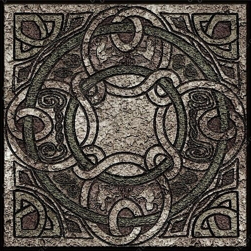 Stone Texture Celtic Knot Pattern by HavenDesign